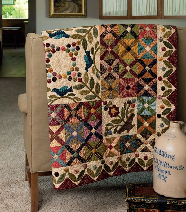 ***Nice center medallion Kim Diehl, Jo Morton, Simple Friendships book, Martingale Press, Warm Regards quilt