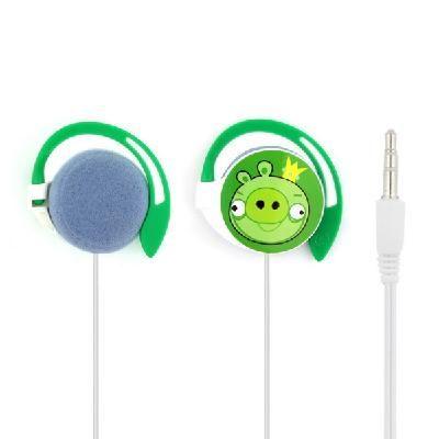 Наушники Angry Birds круглые зеленые