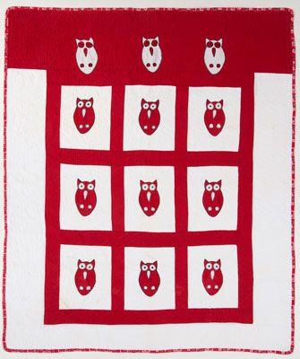 Quilt Magazine | Quilt Magazine » Blog Archive » QUILT: Oct/Nov 2013 – 1950′s Vintage Hoot Owl free oatterb