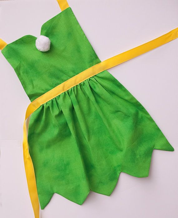 Tinkerbell fairy dress up apron for toddlers and girls
