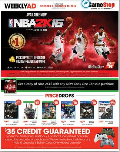 Game Stop Weekly Ad October 7 - 13, 2015 - http://www.olcatalog.com/game-stop/game-stop-weekly-ad.html
