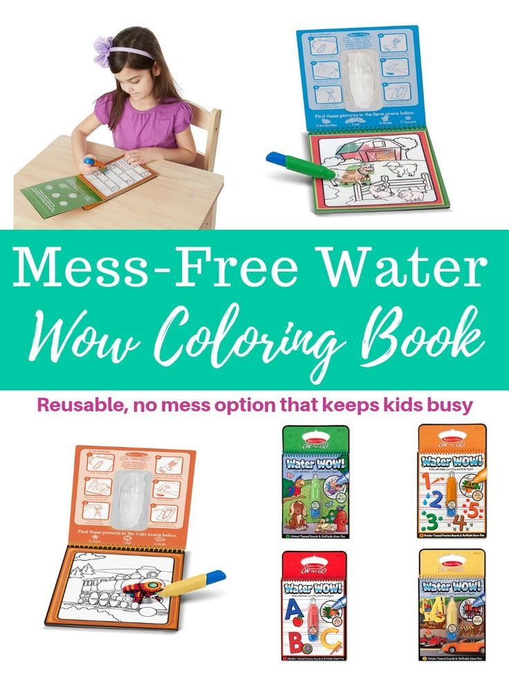 Melissa & Doug® Water Wow Coloring Book - Assorted | Everything Fun ...