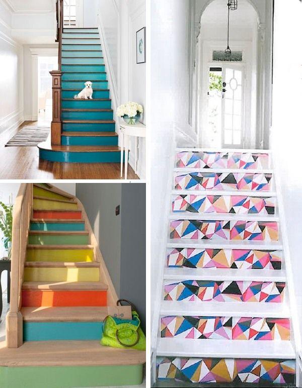 Escalier contre-marches couleur - rénovation escalier
