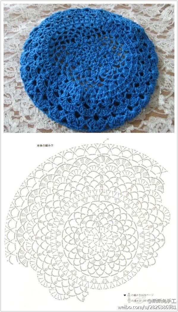 lace-y crochet cap