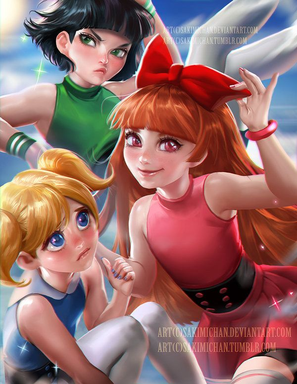 Powerpuff girls by sakimichan on DeviantArt- CLS