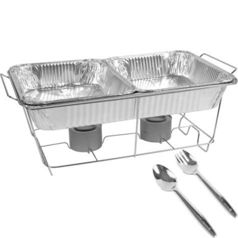 $12.99 for everything you need! Chafing Dish Buffet Set 8pc - Party City |  Reception Fun! | Pinterest | Buffet set, Chafing dishes and Wedding foods - $12.99 For Everything You Need! Chafing Dish Buffet Set 8pc