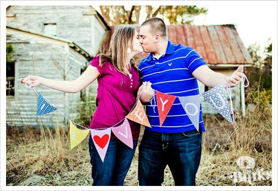 Real DIY Props for your Engagement Shoot