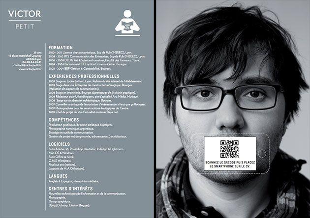 QR code resume design