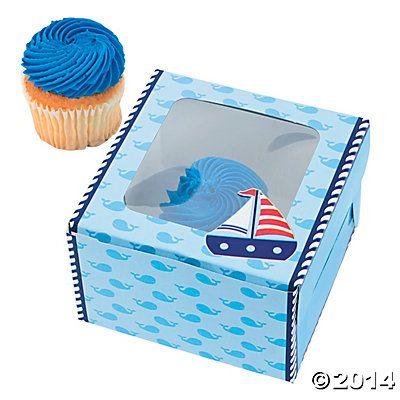 Sailor Cupcake Boxes 12pk Party Supplies Canada - Open A Party