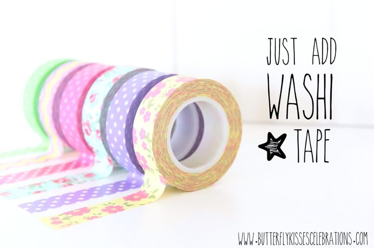 Embellish just about ANYTHING your heart desires using this trendy selection of Washi Tape and more available at www.butterflykissescelebrations.com!!