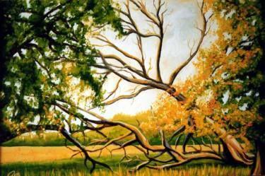 "Saatchi Art Artist Dan Civa; Painting, ""Autumn in Danish nature reservation"" #art"