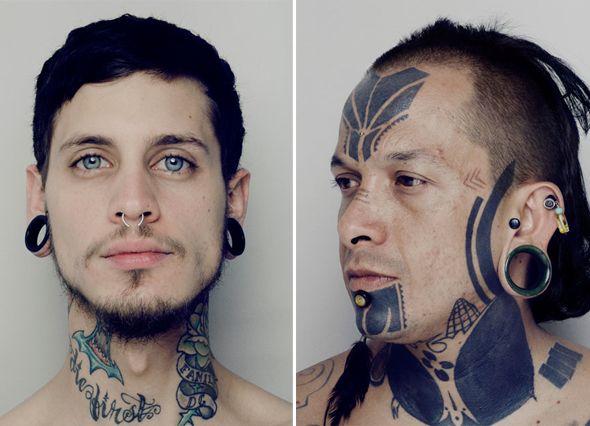 Photographe mexicain, Carlos Alvarez Montero a commencé a travaillé sur la culture des gangs dans les petites villes du Mexique. Il a rencontré de nombreux hommes tatoués de la tête aux pieds. Voulant connaître la signification de ces dessins éternels, l'un deux lui a expliqué qu'ils étaient des marques d'un guerrier, de combats qu'il avait mené et une manière de montrer à tous qu'il était toujours prêt à se battre.