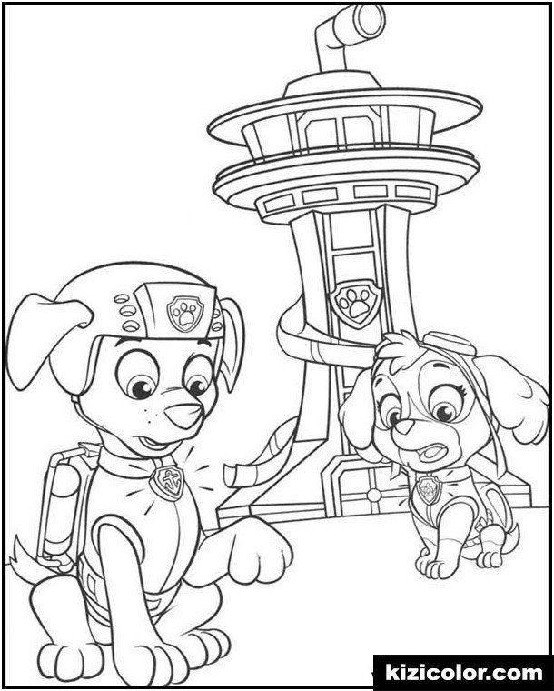 Paw Patrol Coloring Pages Halloween Dÿz Dÿz Might Pup Tower Paw Control Free Printable Col Paw Patrol Coloring Paw Patrol Coloring Pages Paw Patrol Christmas