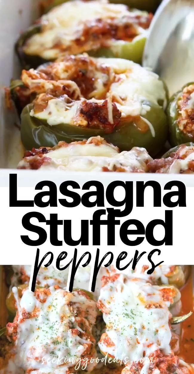 The Best Lasagna Stuffed Peppers Stuffed Peppers Filled With Sausage Gooey Melted Cheeses And Marinara Yum In 2020 Italian Recipes Healthy Recipes Stuffed Peppers