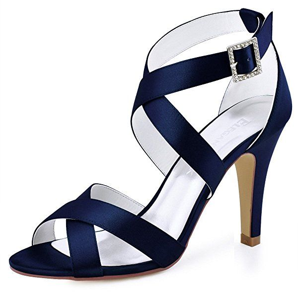 91bcce6e0d88e Amazon.com | ElegantPark HP1705 Women High Heel Shoes Open Toe Cross ...