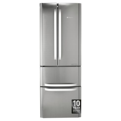 Not great, almost too deep, too cheap, energy consumption could do better.  Hotpoint American Fridge Freezer, FFU4DX, Stainless Steel