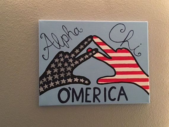 Alpha Chi Omerica Canvas by SeauxSorority on Etsy