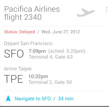 Google Now app updated to take on iOS Passbook | PCWorld