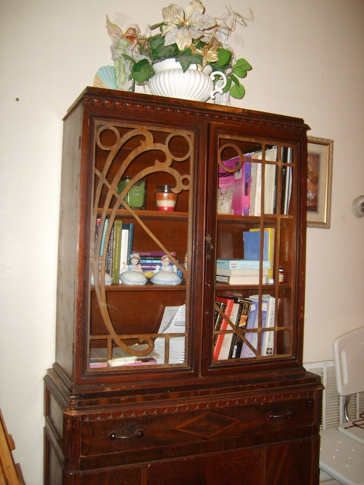 This Art Deco China Cabinet Repurposed As A Book Cabinet