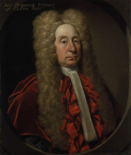 Fluffy Draught Excluders as Big Wig! Sir Francis Grant, Lord Cullen, (1658-1726), c.1720  Judge and Lord of Session, by John Smibert.