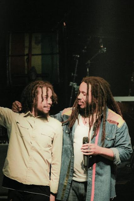 Stephen Marley and son.