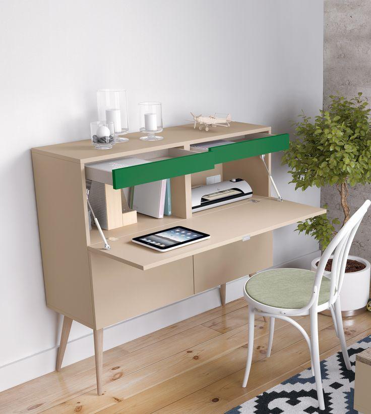 Perfecto para el rinc n de tu sal n mueble escritorio con for Escritorios para salon