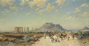 Hermann David Solomon Corrodi (Italian, 1844-1905) The Acropolis, Athens signed and inscribed 'H. Corrodi. Roma' (lower left) oil on canvas