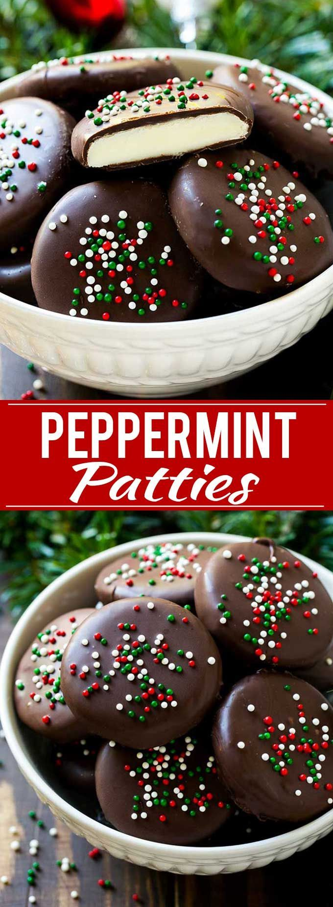Peppermint Patties Recipe. #mint #Christmas #candy