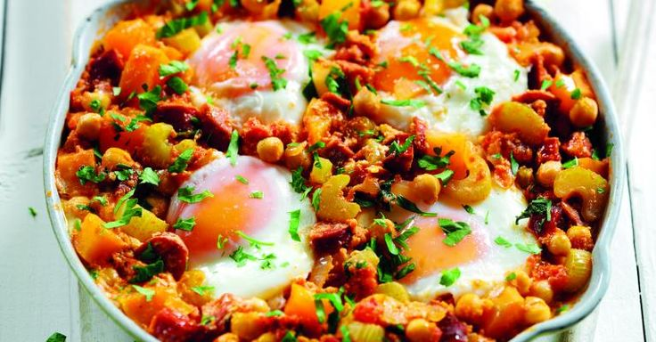 Egg and chorizo casserole - family one-pot by Simon Rimmer
