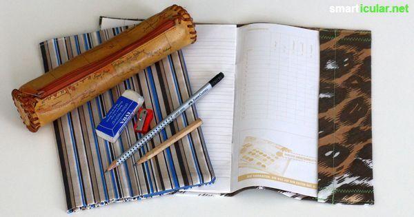 Nachhaltige Hüllen für Hefte und Bücher einfach selbermachen!