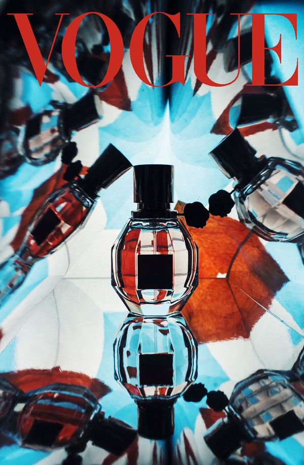 PERFUME BOTTLE :: Vogue Kaleidoscope Still Life - by Pauline Gallois, via Behance