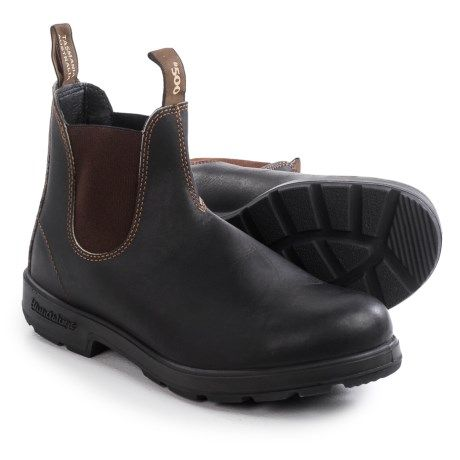 Blundstone 500 Pull-On Boots - Factory 2nds, Leather (For Men and Women) in Stout Brown