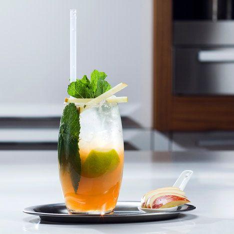 Okurku a avokádo rozmixujte a přilejte vymačkanou šťávu z citrusů. Dobře promíchejte, případně nařeďte vodou a nalejte do sklenic s ledovou tříští. Ozdobte lístky máty; Soda Stream