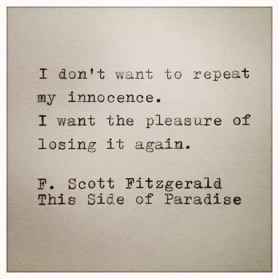 I regret nothing in my past, and look eagerly forward to my future.