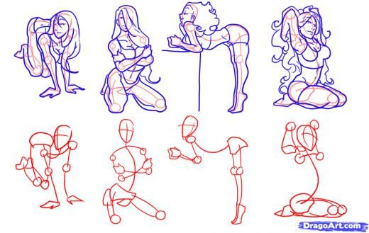 how to draw a woman& 39