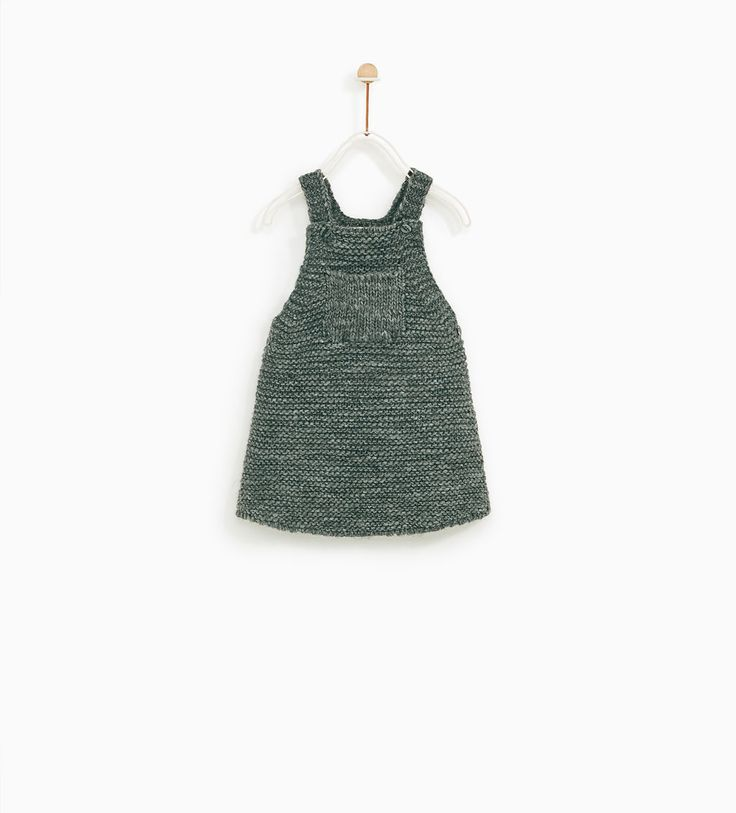 ZARA - KIDS - CABLE-KNIT PINAFORE DRESS