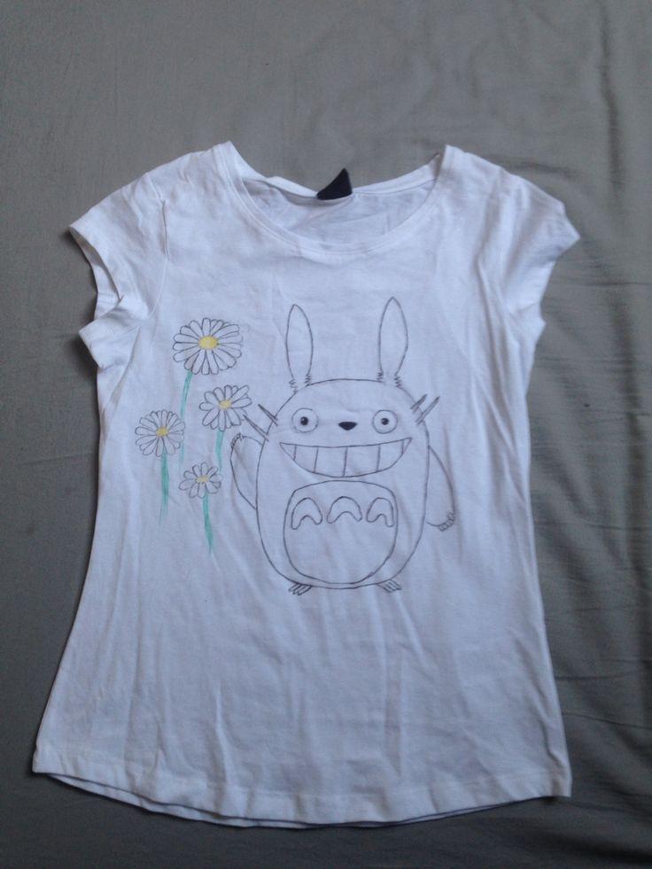 Kangastusseilla piirretty Totoro