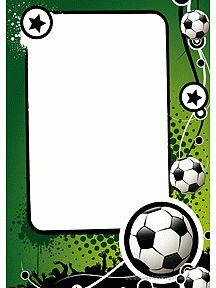 Superbe papier à lettre pour enfant à imprimer, orné de petits ballons de foot  sur toute la carte