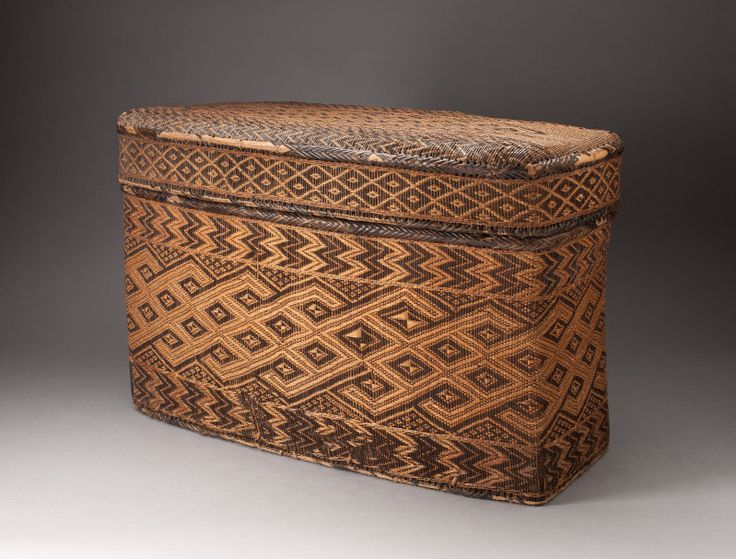 Angola, Democratic Republic of the Congo, or Republic of the Congo  Basketry Storage Container, 18th/19th century  Rattan, wood, and twine 34.9 x 55.9 x 26.7 cm (13 3/4 x 22 x 10 1/2 in.)  Restricted gift of Jamee and Marshall Field; Pauline S. Armstrong Endowment, 2003.13