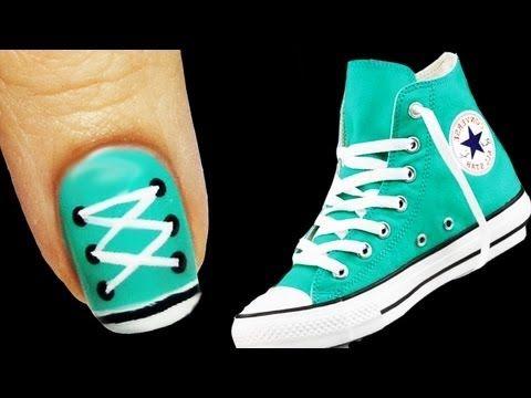 Tutorial: Converse Nail Art - YouTube