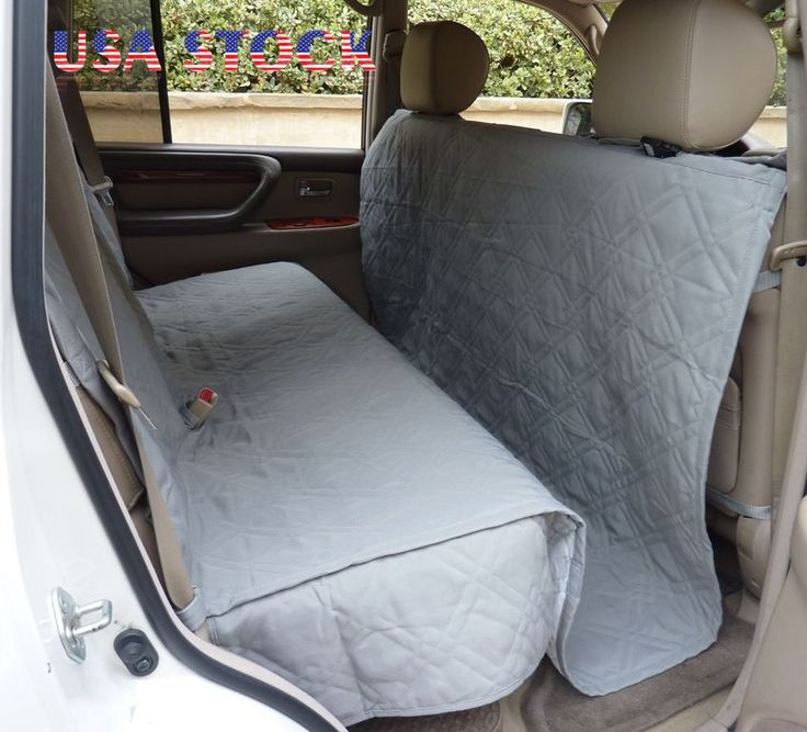 Deluxe Quilted Padded SUV Car Seat Cover For Dog Pet Extra Large Coverage Grey Covers DogsBack