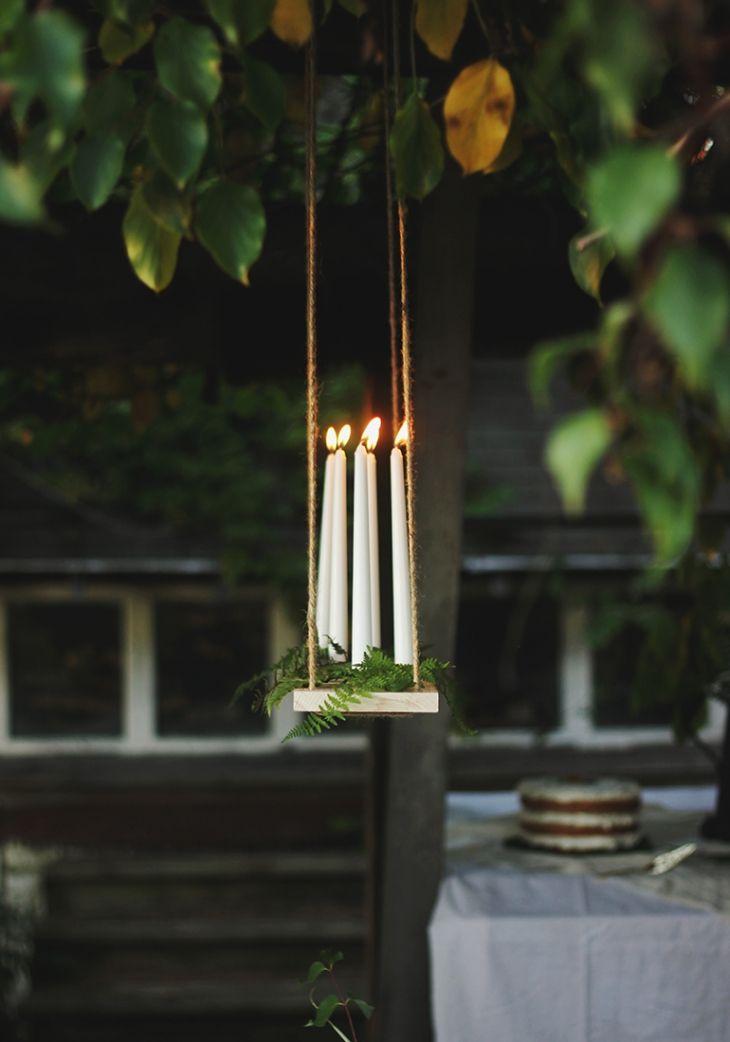 Diy Outdoor Candle Chandelier Tutorial Outdoor lighting Patio & Outdoor Furniture