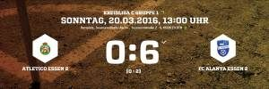 Auswärts Atletico Essen 2 vs. FC Alanya