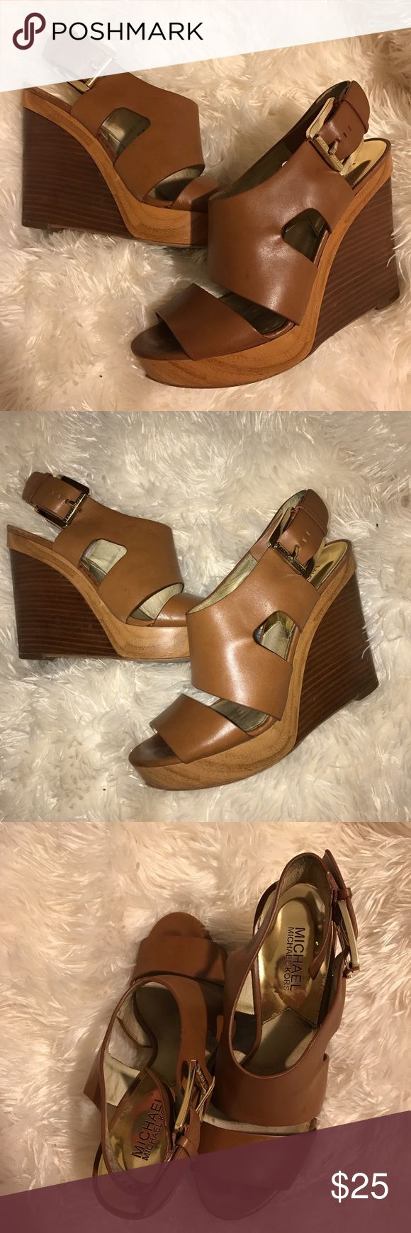 MICHAEL Michael Kors wedge sandals 💗 Neutral wedge sandal by MICHAEL Michael Kors. Perfect for the warm weather. 🌞 MICHAEL Michael Kors Shoes Wedges