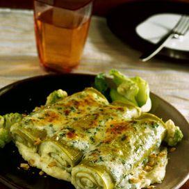 Cannelloni verdi con cavolfiore e noci  Stai guardando: Tutte le ricette con il cavolfiore