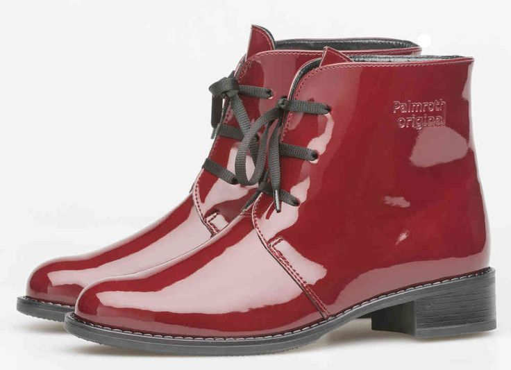 Palmroth boot with laces chili red patent -50%