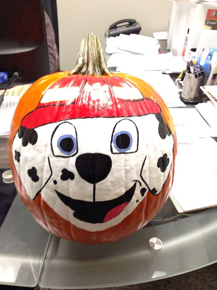 Paw Patrol Painted Pumpkin