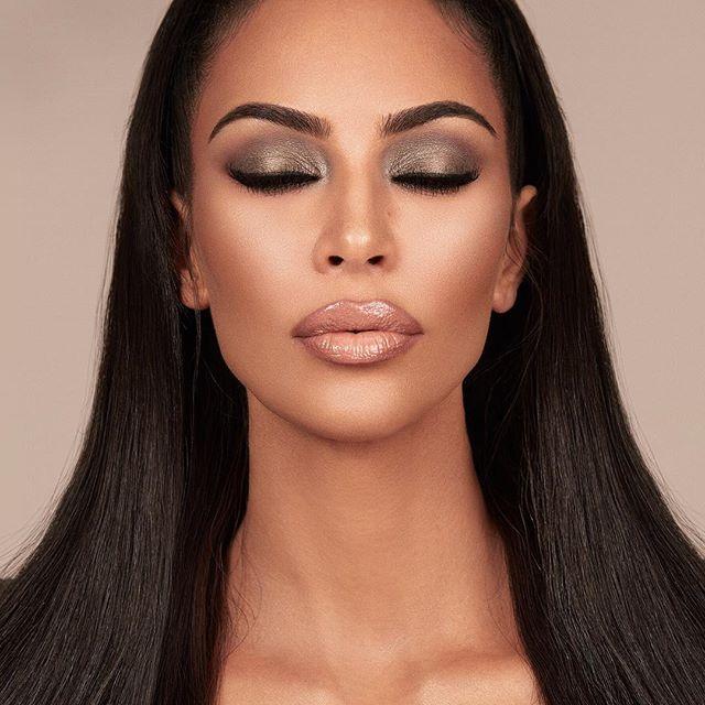 Kkwbeauty Glam Bible Smokey Volume I Collection Features The Ultimate Glam Essentials That Kimkardashian S Under Eye Makeup Kardashian Eyes Kardashian Makeup