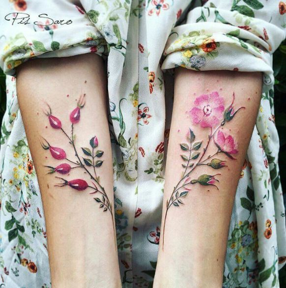 We Just Wet Our Plants Over These Super Realistic Flower Tattoos - Cheezburger