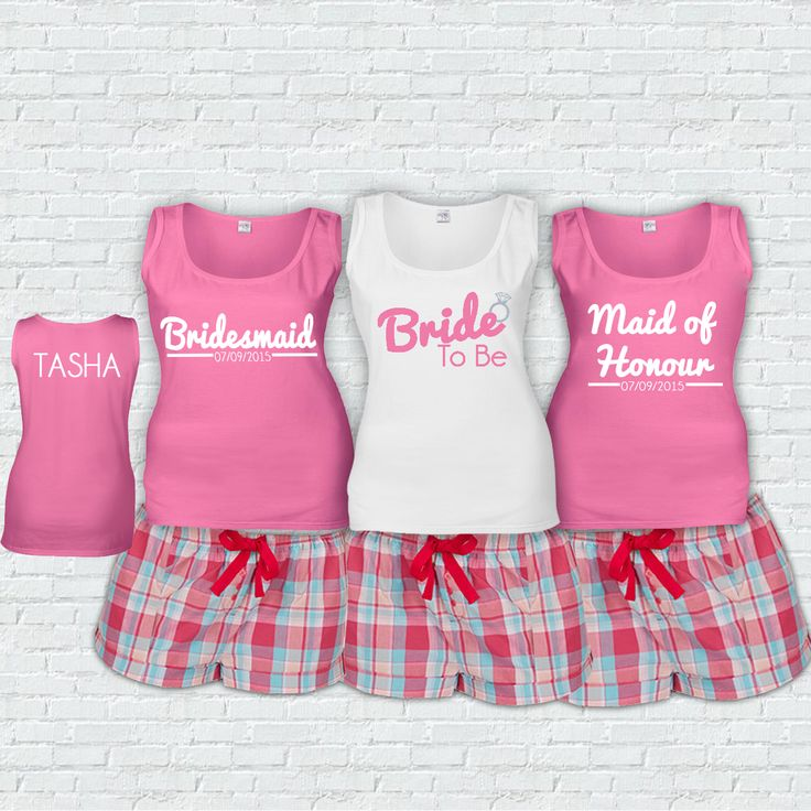 Bridal Party PJ's Don't be without your PJ sets for your hen or wedding eve.